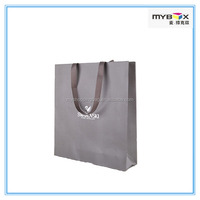 Luxury special paper bag shopping bag with silk ribbon handles