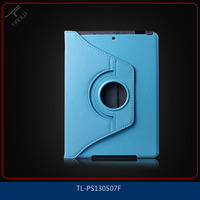 For Ipad5 Guangdong Export Genuine PU Leather Style Case, 180 Degree Rotating Design Case Cover