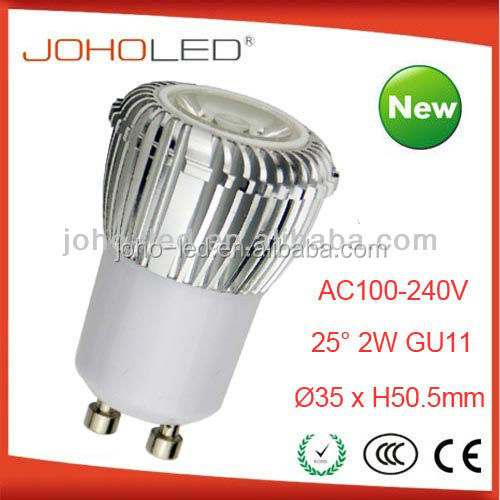 2 years warranty gu11b-1*2w, gu10 gu11 led kitchen lamp