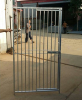 Galvanised Dog Run Panels 8cm Bar Door Right Gate Dog Kennel