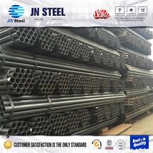 0.5inch -14inch stock carbon Q235b 345B ERW welding round steel pipe black thread welded tube