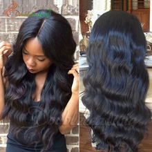 Human hair lace front wig, brazilian hair 7A grade hot sale human front lace wig