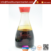 Premium quality 150ml glass bottle packing non-gmo chinese clear soy sauce with BRC certification