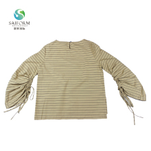 Fashional Soft Lady Clothes Long Sleeve 100% Cotton T shirt