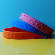 Embossed Wristbands,Braille Bracelets,Solid bracelets