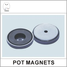 POT06 Series Cup Shape Ferrite Pot Magnet For Supermarket Shelves
