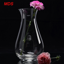 Tall good quality clear round belly 24 inch glass vases cylinder
