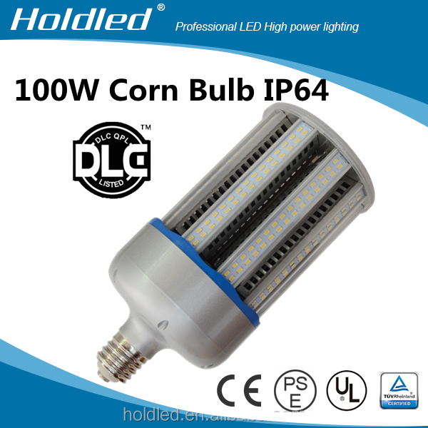 DLC UL led corn lamp 100W replace lamp HID 300W parking lot led corn bulb