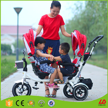 Children Pedal Toy Cars For Kids To Drive Baby Double Seat Tricycle