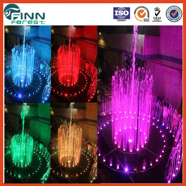 Common square lighted outdoor lake diameter 6m music water fountain dancing artistical wedding cake fountains for sale