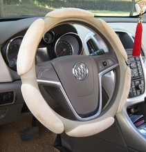 3D Butterfly suede wood steering wheel cover