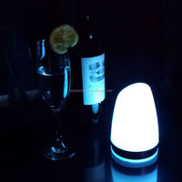 rechargeable battery cordless led color changing table lamp for restaurant hotel