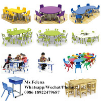 2016 Guangzhou Cheap Preschool Furniture , Kindergarten Furniture Tables and Chairs ,Nursery School Stackable Plastic Chairs