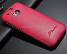 Designed Flip leather case cover for htc one 2 M8, case-hardened case for M8