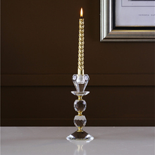 2016 christmas decoration crystal candle holder for table