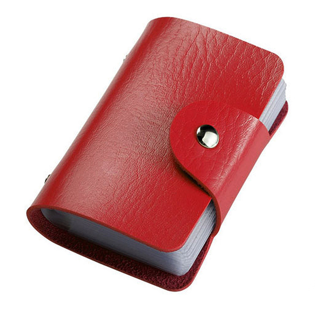 24 Bits Fashion New Women Men Credit Card Holder PU Leather Hasp Unisex ID Holders Package Organizer Manager