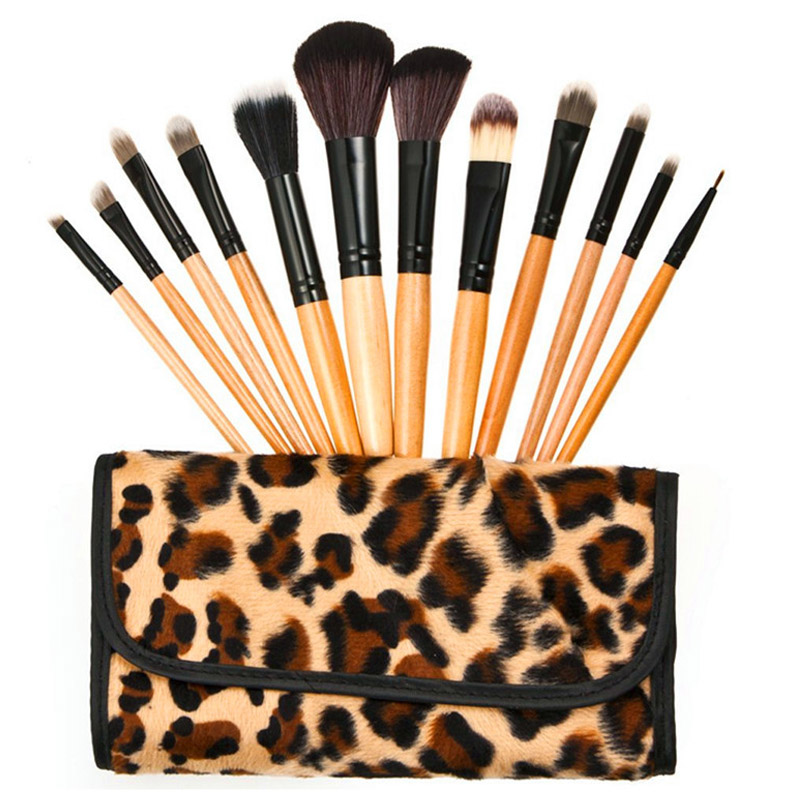 Roll up cosmetic brush set fashion makeup brush bag