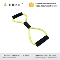 8 Shape Resistance Tube Chest Expander Crossfit Fitness Elastic Exercise Chest Expander