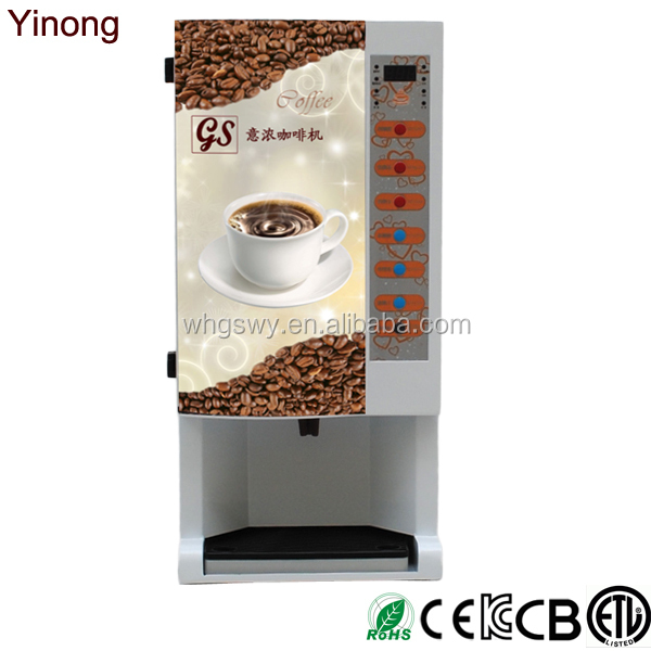 Yinong GBS103 Best price commercial fully automatic 3 hot and 3 cold espresso coffee vending machine