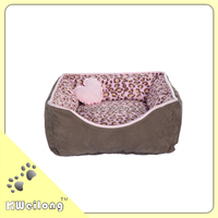 Fashion Pink Leopard dog bed top quality reasonable price/pet bed