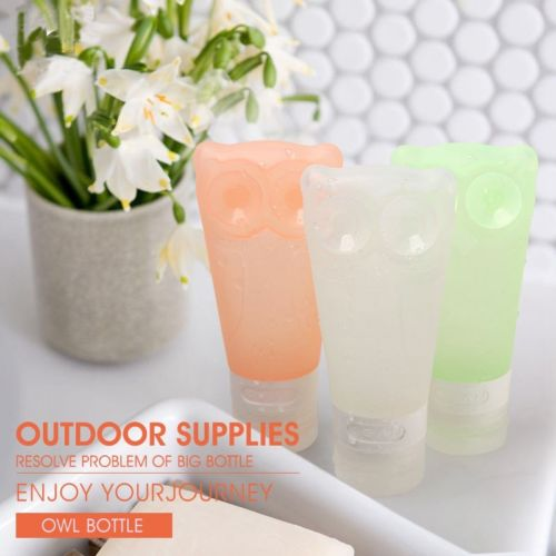 60ml Silicone Travel Points Bottle Cosmetics Shampoo Bottles Gel Squeeze Portable Soft Silicone Travel Set Bottle