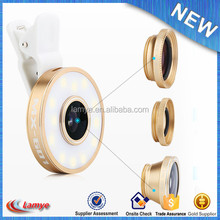 Detachable clip lens factory price selfie flash