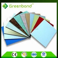 Greenbond silver high quality acp 4x8 wall panel exterior wall cladding