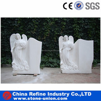 Stone carvings and sculptures beautiful white marble angel statues wholesale