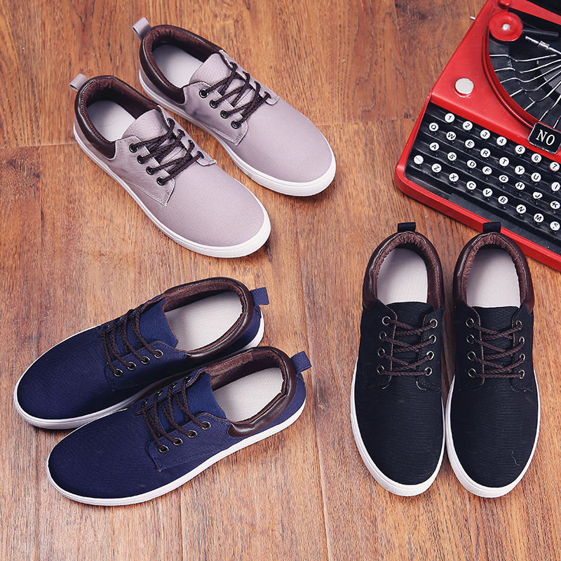MS1026 Men casual shoes 2017 breathable canvas man shoes