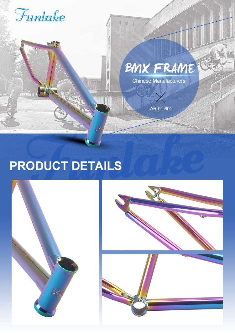 Funsea BMX bike 20'' chromoly#4130 professional bicycle parts supplier cheap price customized e bike frame bicycle frame