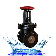 Good quality China valve manufacturer russian standard dn100 flanged stem gate valves