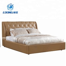 Leather Material And No Inflatable Romantic Style Bed