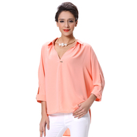 New fashion chiffon blouse 2014 Sexy office lady Blouse for women bangkok