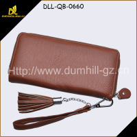SheepSkin Pattern zipper Lady Purse China Leather Product Supplier