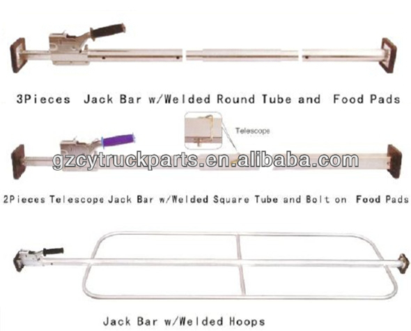 38mm steel load lock bar,cargo bar, truck lock bar
