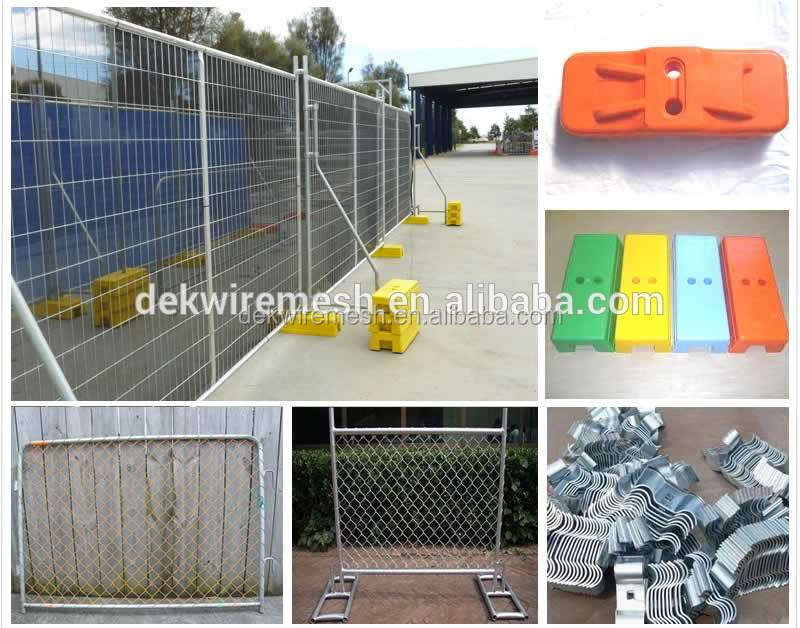 Factory prices construction sites used temporary fence panel with post and base