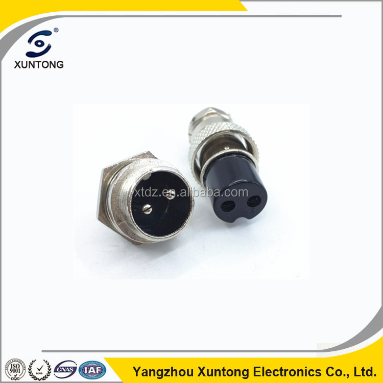 High Quality Aviation Connector 16mm 2 Pin Plug & Jack