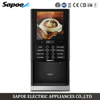 Sapoe touch screen fully automatic 7 flavor machine coffee
