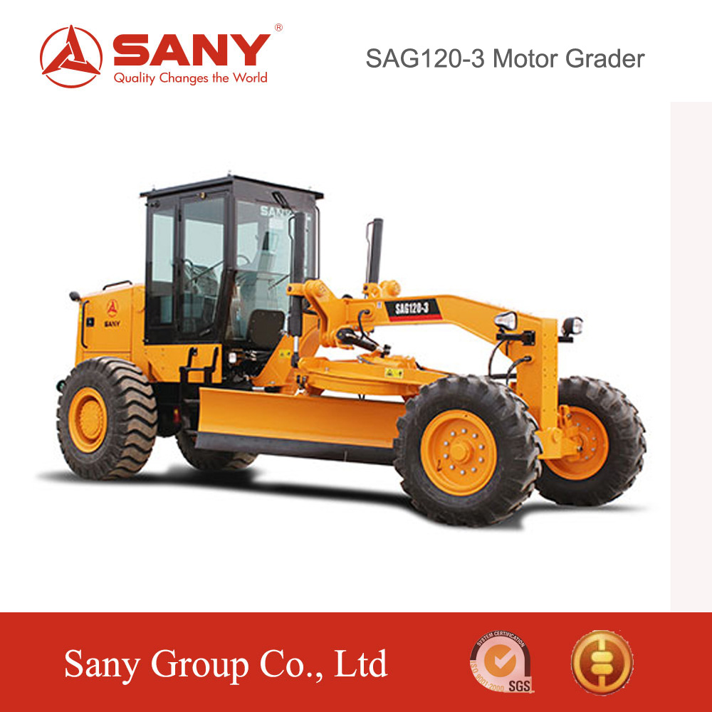 Sany SAG120-3 Motor Grader for Sale Small function of Motor Grader For Sale with ISO