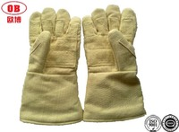 500 Degree Yellow Safety Gloves For Fire Protection