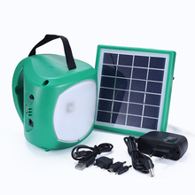 Rechargeable emergency lighting solar lantern with mobile phone charger