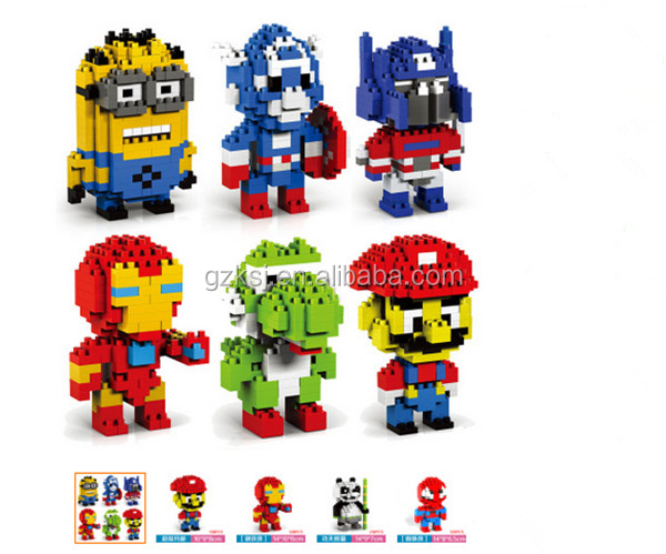 Promotional high quality kids interlocking robot characters series building block