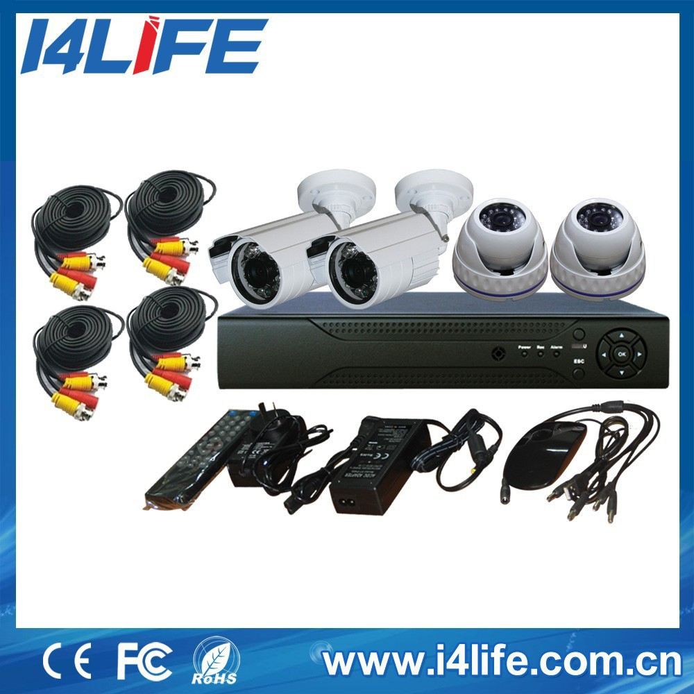 4CH Camera Kit with 720p/960p IR cameras /cheap cctv camera kit
