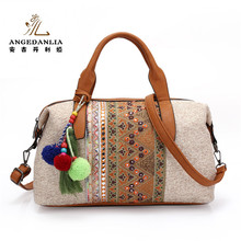 2017 Ladies Leather dropshipping Bag PU handle Women Ethnic new model Hand bags