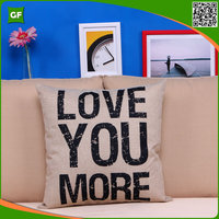 Simple Letter Printed Digital Cushion Cover Hot Selling Wholesale Customized Home Decorative Pillow Case Faux Linen