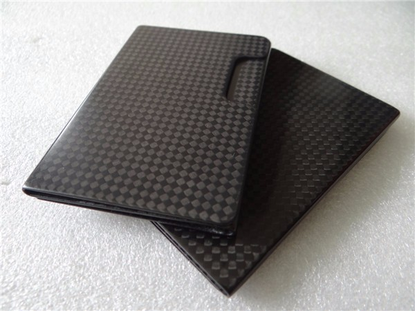 2016 Supreme carbon fiber business card holder with glossy finish