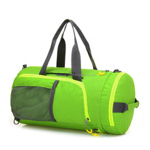2015 China Suppier Stylish Tote Canvas Weekender Bag,Fashion Green Canvas Travel Bag,Waterproof Canvas Cylinder Bag