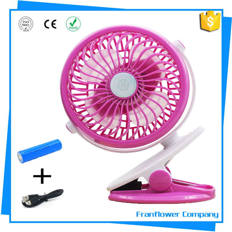 Rechargeable Clip and Desktop Fan USB or Battery Powered Small Personal Outdoor Fan