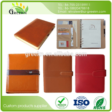 Custom Sublimation Daily Genuine Cover A5 PU Leather Notebook