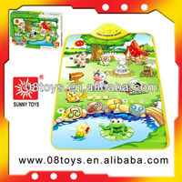 Baby musical play mat with sides waterproof baby play mat
